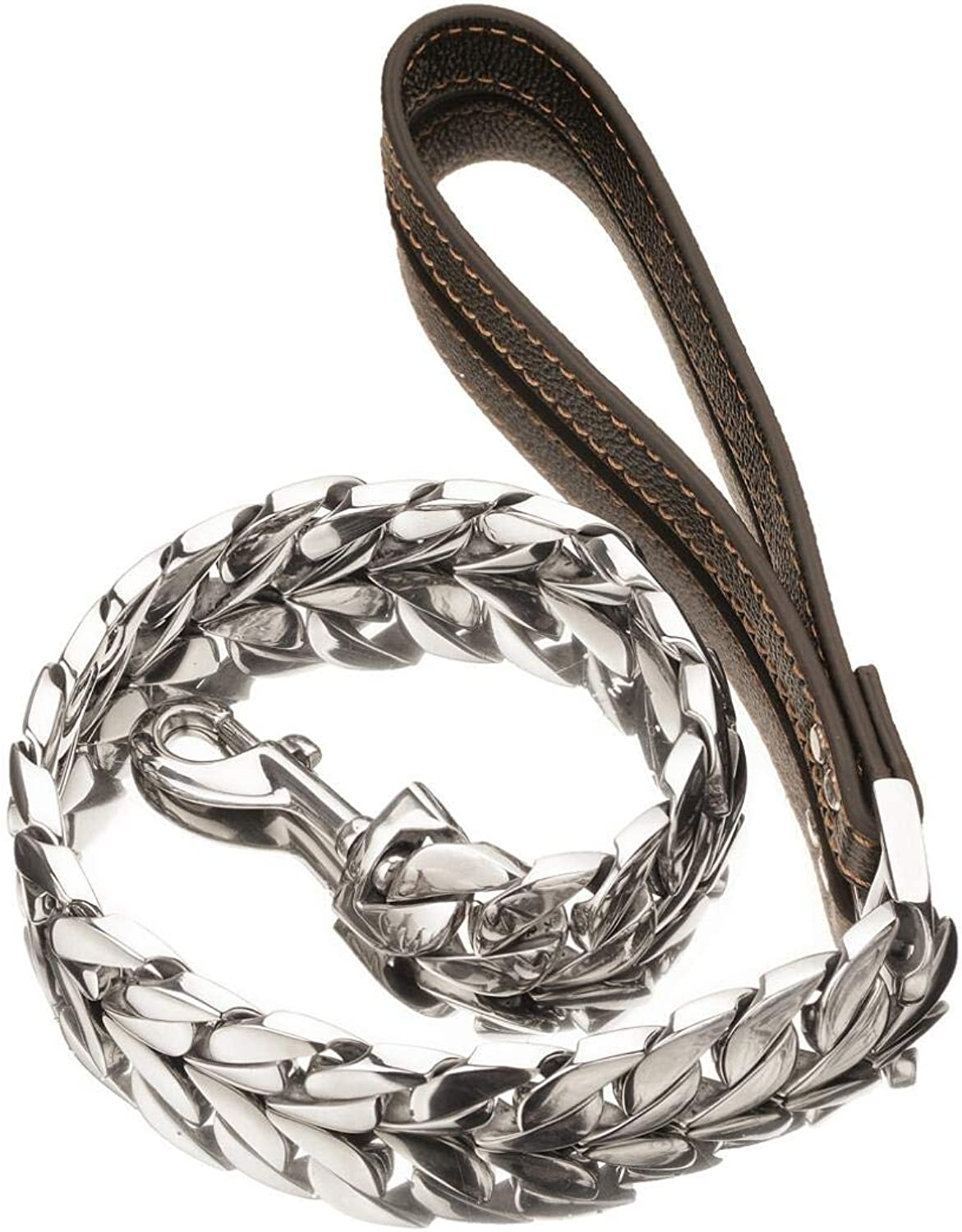 30Mm Dog Chain Titanium Steel Stainless Steel HighGrade Polished Casting Thick Chain Large Pet Dog Leash