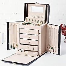 MU Ménage Portable Boîte De Rangement Boîte À Bijoux en Bois Massif Multicouche/Commode Finition Boîte De Finition Bijoux