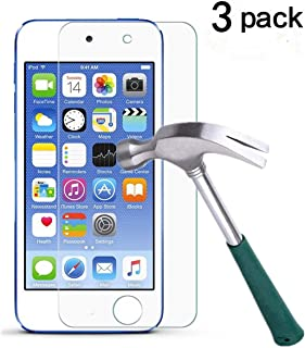 New iPod Touch (6th Gen, 2015 Released),TANTEK [Bubble-Free][HD-Clear][Anti-Scratch][Anti-Glare][Anti-Fingerprint] Tempered Glass Screen Protector for iPod Touch 6G & 5G,-[3Pack]