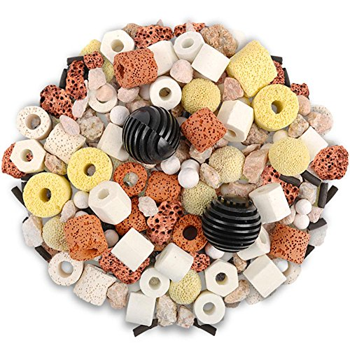 SH-Flying Aquarium Filtermaterial Scientific Ratio Aquarium Filter Material Bacterial Filter Material Ceramic Loop Biochemical Ball Activated Carbon Aquarium 12-In-1 Purified Water Filter Material