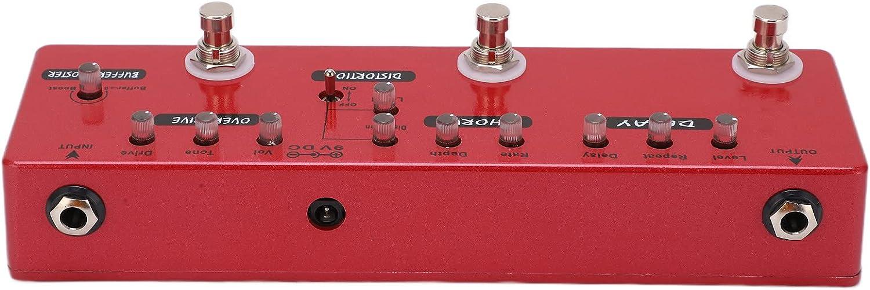 Pedal de guitarra, puede eliminar la interferencia 6 efectos de pedal Pedal de efecto de guitarra para bajo eléctrico DC 9V