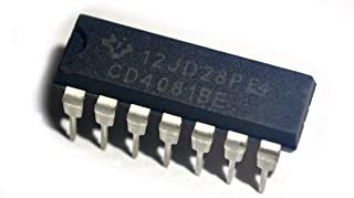 Texas Instruments CD4081BE IC, Quad AND Gate, 2I/P, DIP-14 (Pack of 10)