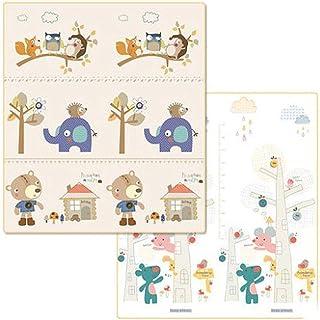 Blanketswarm - Alfombra para niños (Plegable, Doble Cara, Impermeable, XPE, Espuma Antideslizante, para Uso en Interiores o Exteriores, 79 x 59 x 0.4 Pulgadas), Bear Amusement Park, 200x150cm