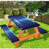 LEWIS FRANKLIN Cortina de ducha de espacio exterior de lujo cubierta de mesa de picnic, Cyberspace Environment Elastic Edge ajustable mantel de 70,8 x 172,8 cm, juego de 3 piezas para mesa plegable