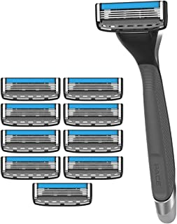 Dorco Pace 4 Pro - Four Blade Razor Shaving System - 10 Pack (10 Cartridges + 1 Handle)