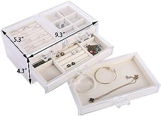 Vencer Makeup Storage Box, Acrylic velvet, 1top 3 Drawers