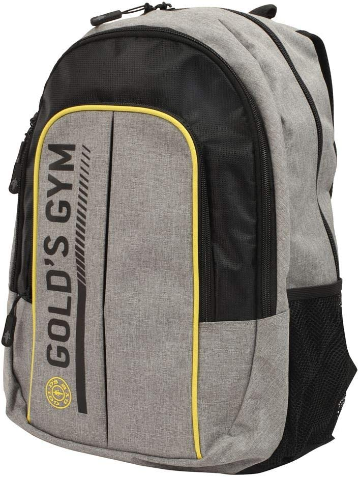 security Gold's Gym Backpack Grey Size Black Brand Cheap Sale Venue Marl One