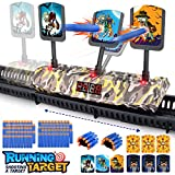 Growsly Electronic Mobile Shooting Targets for Nerf Guns Toys Scoring Auto Reset Digital Moving Targets with 100 Pcs Bullets 2 Hand Wrist Bands , Ideal Gift Toy for Kids - Boys & Girls