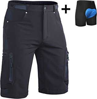 Ally Mens MTB Mountain Bike Short Bicycle Cycling Biking Riding Shorts Cycle Wear Relaxed Loose-fit