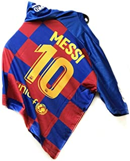 New Season Barcelona Messi #10 Kids/Youth Home Soccer Jersey & Shorts 2019-2020 Red/Blue