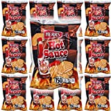 HERR'S Potato Chips - Bold & Zesty Texas Pete Hot Sauce! 1oz Bag (Pack of 12, Total of 12 Oz) Bold & Zesty Texas Pete Hot Sauce 150 Calories Per Bag - Gluten-Free Satisfaction Guaranteed!