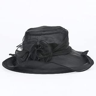 Summer Hats for Women Church Wedding Wide Brim Foldable Sun Hat Beach Trilby Cap Sun Derby Hats
