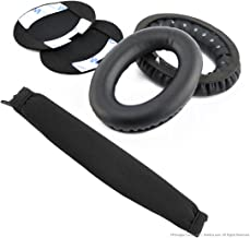 Geekria Earpad for Bose QuietComfort QC2, QC15 Headphone Replacement Ear Pad + Headband Cover / Ear Cushion / Ear Cups / Ear Cover / Earpads Repair Parts / Headband Protector (Black)