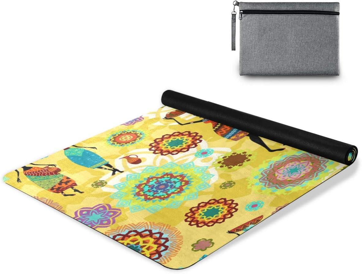 senya Non Slip Yoga Towel Mat Outstanding Ethnic and Ultra-Cheap Deals Pattern Lovely Afr