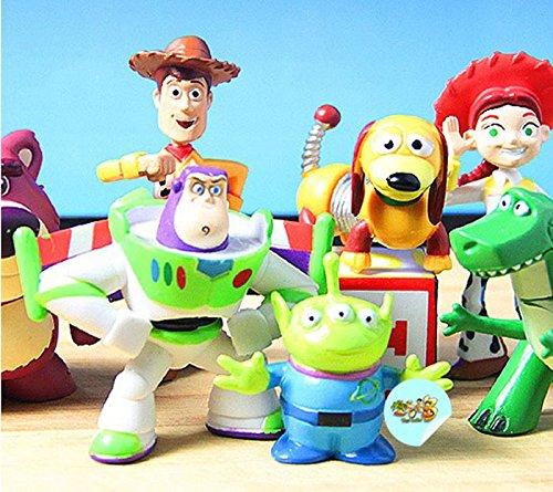 Ryadia (TM) New Funny Cute Enfants Jouet Beaucoup 8 Mini Jouet étage 3 Briquet Buzz Woody Jessie Figurines Dinosaure Dot