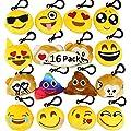 Dreampark Emoji Keychain Mini Cute Plush Pillows, Key Chain Decorations, Kids Party Supplies Favors