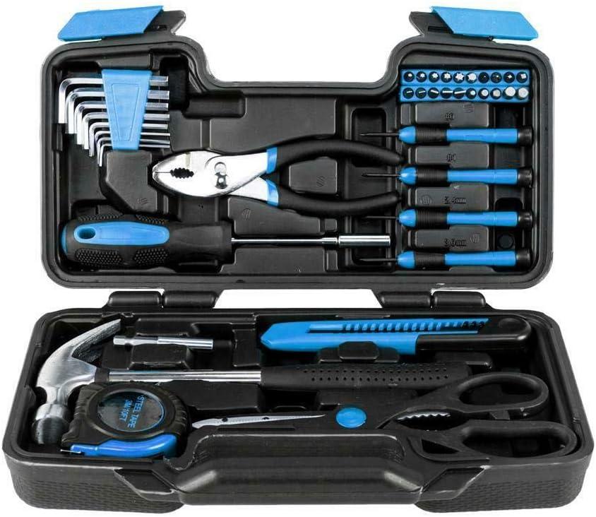 New Amazing Portable 39pcs Ranking TOP7 Blue Tool Kit Ranking TOP17 Box Household Set Tools