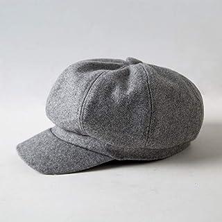 JPIUE Korean Autumn And Winter Hats Female Woolen British Retro Octagonal Hat Artistic All-match Warm Painter Hat Newsboy ...