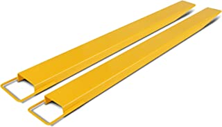 OrangeA 60In X 5.5In Fork Extensions Accommodates 60 Inch Length 5.5 Inch Width Forklift Extensions Heavy Duty Steel Pallet Fork Extensions for Forklift 2 Inch Thickness