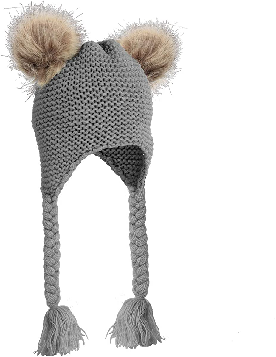 Haokaini Spasm price Baby overseas Winter Warmer Knitted Earflaps Toddler Dual F Hat