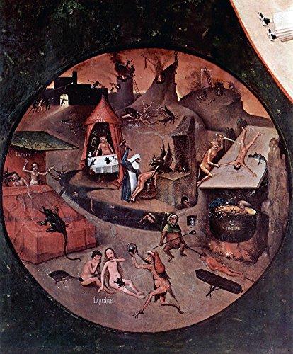 The Museum Outlet – Table avec les scènes of the Seven Deadly Sins détail par Bosch – Poster (61 x 81,3 cm)