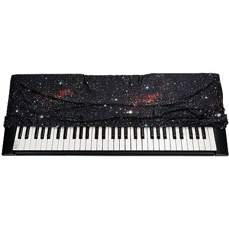 QEES Funda para teclado de 61/88 teclas, a prueba de polvo 61/88, funda elástica para teclado de piano electrónico GQZ05 (negro)