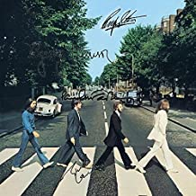 The Beatles Signed Autographed Abbey Road Record Album Cover LP Autographed Signed Facsimile