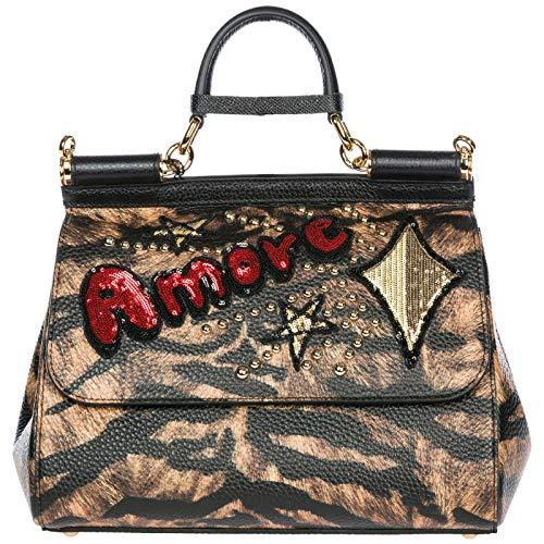 Dolce&Gabbana borsa a mano Sicily donna tigre