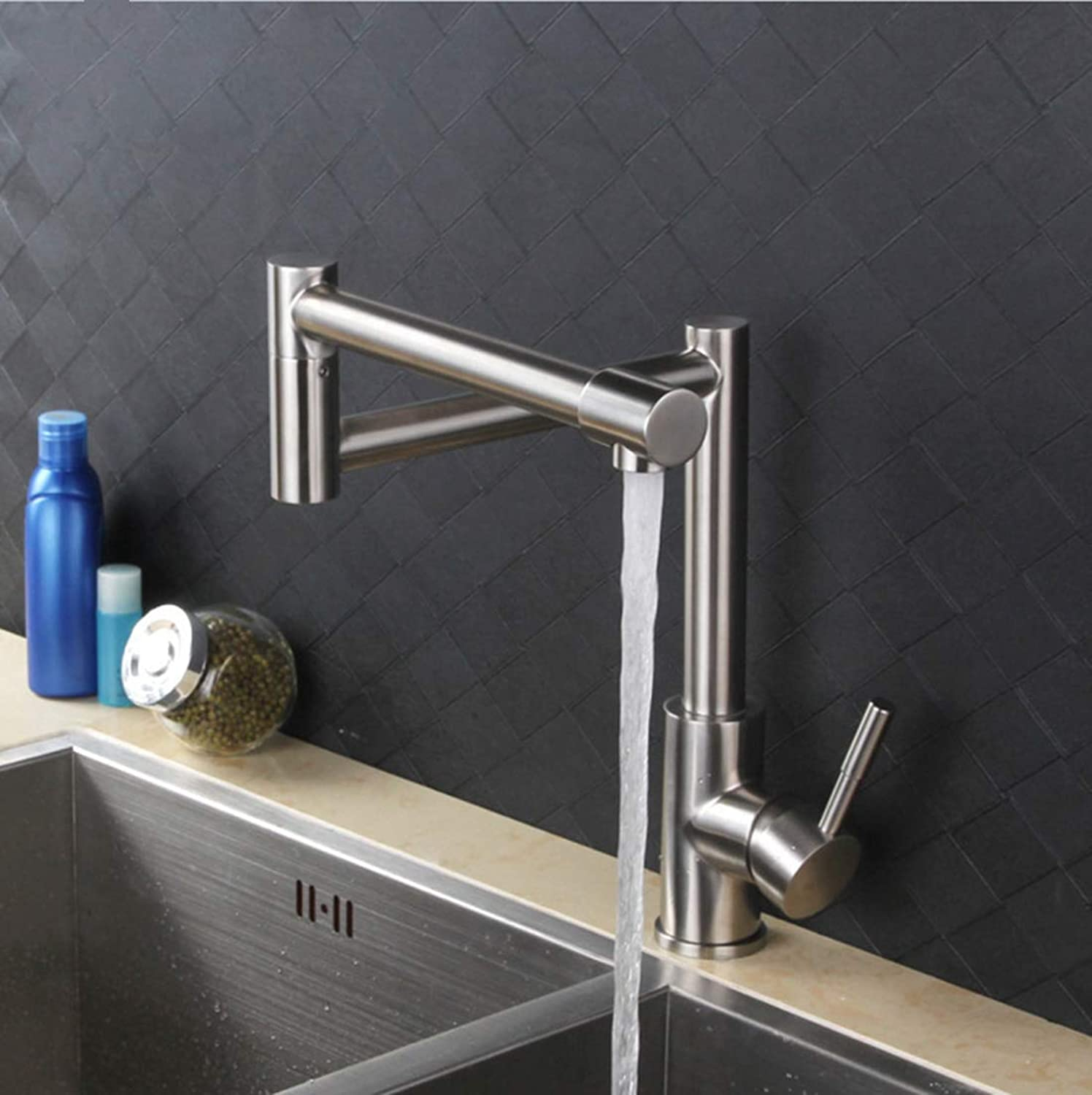 DONGCY Pot Filler Folding Kitchen Faucet Sink Faucets stainless steel