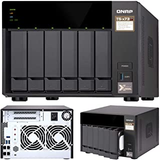QNAP TS-673-4G 6-Bay NAS AMD RX-421ND Quad-Core ~3.4GHz 4GB DDR4 512MB DOM 2xM.2 2xPCIe 4xUSB3.0 4K 4xGigabit LAN Hot-swap...