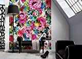 Komar–Papel pintado fotográfico Romantic Pop–184x 254cm–papel pintado, decoración de pared, flores, dibujo, Muelle, sintética, Collage–4–749