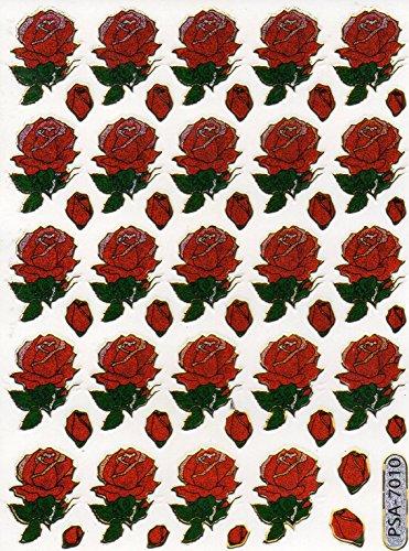 by soljo Rose Colorful Decal Autocollant de décalque 1 Metallic Glitter Dimensions de la Feuille: 13,5 cm x 10 cm