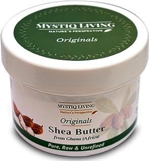 Mystiq Living Originals - Pure Shea Butter Raw & Unrefined | African, Organic | For Face & Stretch Marks | 220 gm