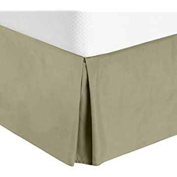 Twin 15 Fall Covers Legs and Bed Frame Twin, Sage Fabric Base Allows for Natural Draping 15 Fall Covers Legs and Bed Frame Crescent Bedding Sage Green Pleated Bed Skirt Easy Care Quadruple Pleated Design