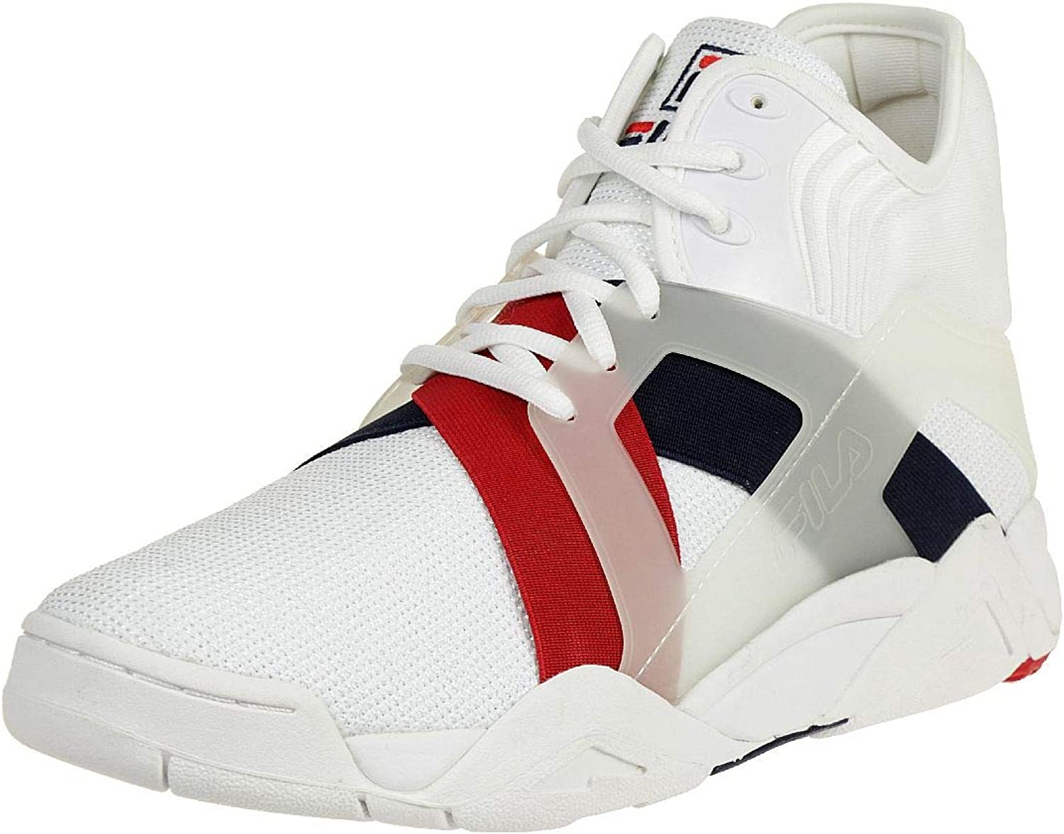 Fila The cage 17 White   Fila Navy   Fila Red 1BM00026125, Trainers