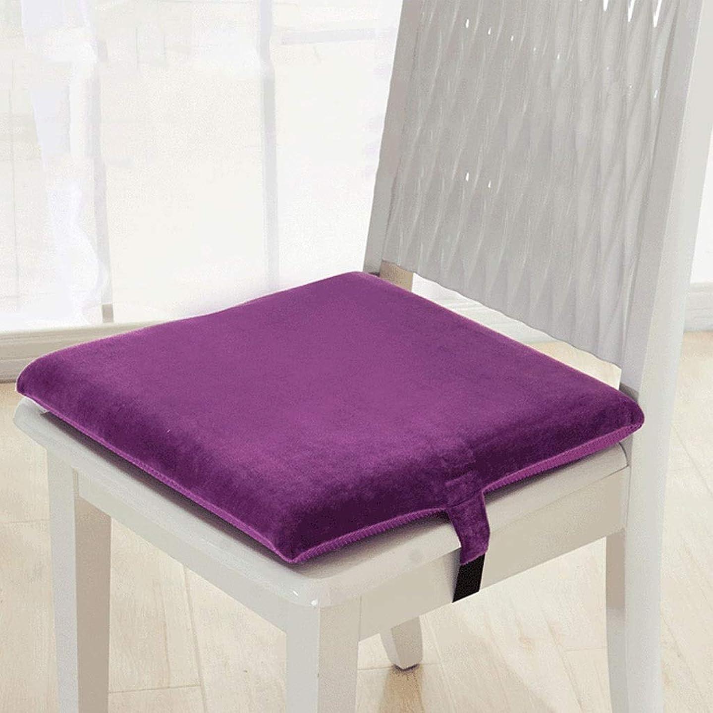 爆弾世界記録のギネスブックルーフパッド入りの椅子パッド/オフィスのシートパッド/滑り止めの椅子のクッション、メモリ綿、抗菌|通気性、庭|キッチン|リビングルーム (色 : Purple, Size : 45x45cm)