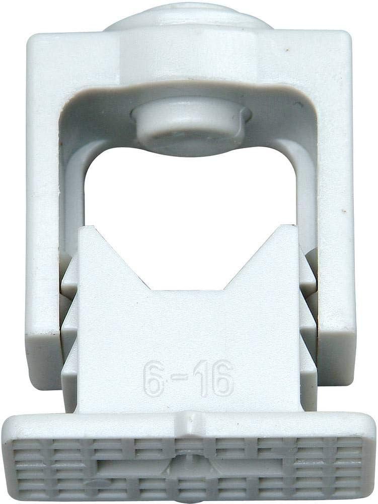 Kopp 341704089 Greif-Iso-Schellen 6 – 16 mm, mit Klemmschraube, 10 Stück, grau