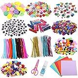 Opopark 1200 Piezas de Kit de Manualidades para Niños,Conjunto de Arte de Collage Hecho a Mano,DIY Arts Crafts Set Materiales,Juego Creativo Regalo para Craft DIY Art Supplies