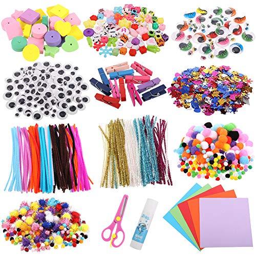 Opopark 1200 Piezas de Kit de Manualidades para Niños,Conjunto de Arte de...
