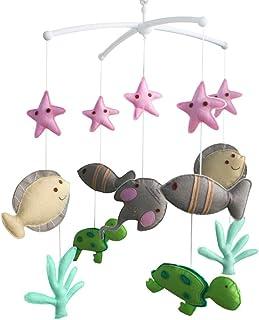 Mobile musical pour lit de bébé Jouet mobile musical fait main de lit bébé Cadeau de Noël La vie marine