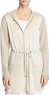 Lafayette 148 New York Womens Linen Tie-Waist Hoodie