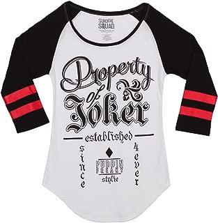 Suicide Squad Property of Joker Raglan Juniors T-Shirt