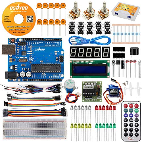 OSOYOO Starter Kit for Arduino Hardware and Coding Learning DVD Tutorial
