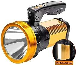 LKNJLL Outdoor Handheld Portable Flashlight 2000 Lumens USB Rechargeable Super Bright LED Spotlight Torch Searchlight Mult...