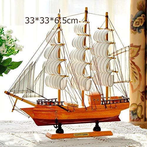 hacpigbb Adorno para Velero De Madera con Modelo De Vela Modelo Estatua De Playa Decoración De Barco Adecuado para Estudio De Sala De Estar - Estilo 10