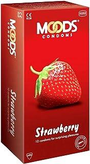 Moods condoms strawberry Condoms 12's