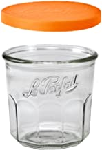 Le Parfait Jam Pot - 445ml Faceted French Working Glass w/Snap Cover, 15oz (Pack of 8)