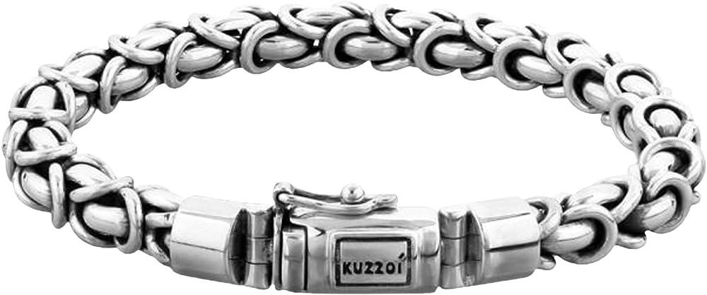 Kuzzoi, bracciale da uomo in argento massiccio sterling 925 (56 gr) 335113