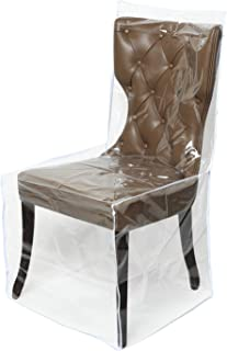 Zipcase 2 Packs All Cover in Plastic Dinning Chair Covers - Heavy Duty Clear Chair Protectors Keep Your Dinning Chair Away...