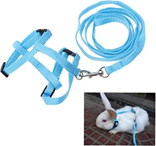 POPETPOP Rabbit Harness Adjustable - Bunny Running,Walking Jogging Harness Leash with Safe Bell for Cat, Kitten,Ferret, Pu...